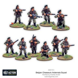 Warlord Games Bolt Action  Belgian Army (BA) Belgian Chasseurs Ardennais squad - 403017311 -
