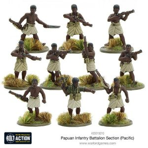 Warlord Games Bolt Action  Australia (BA) Papuan Infantry Battalion Section (Pacific) - 403015010 - 5060393707400