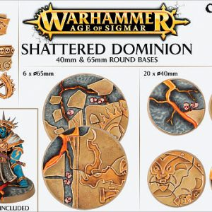 Games Workshop   Games Workshop Bases Shattered Dominion (65mm & 40mm) - 99120299034 - 5011921073122