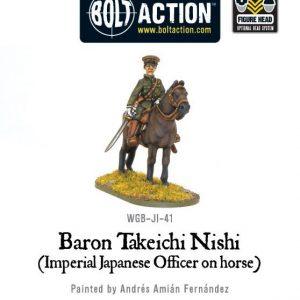 Warlord Games Bolt Action  Japan (BA) Imperial Japanese Baron Nishi (mounted) - WGB-JI-41 - 5060200849521