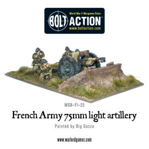 Warlord Games Bolt Action  France (BA) Early War French 75mm Gun - WGB-FI-25 - 5060200842256