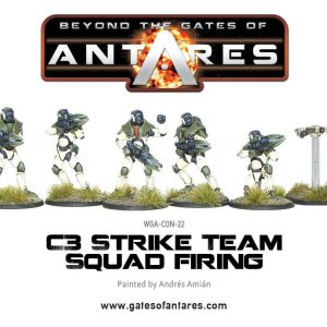 Warlord Games Beyond the Gates of Antares  PanHuman Concord Concord C3 Strike Squad Firing - WGA-CON-22 -