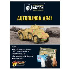 Warlord Games Bolt Action  Italy (BA) Italian Autoblinda AB41 - 402418002 - 5060200848456