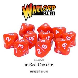 Warlord Games   D10 10 Red D10 - WG-D10-32 - 5060200849668