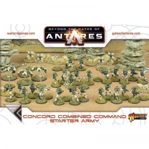 Warlord Games Beyond the Gates of Antares  PanHuman Concord Concord Combined Command Starter Army - WGA-ARMY-04 - 5060393702627