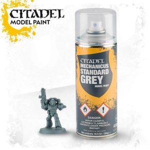 Games Workshop   Spray Paint GW Spray: Mechanicus Standard Grey - 99209999050 - 5011921154555