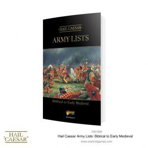 Warlord Games Hail Caesar  Hail Caesar Books & Accessories Hail Caesar Army Lists: Biblical to Early Medieval - 101010003 - 9781911281580