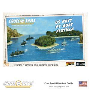 Warlord Games Cruel Seas  Cruel Seas Cruel Seas: US Navy PT boat flotilla - 782011002 - 5060572501850
