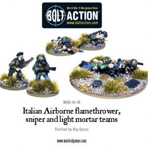 Warlord Games Bolt Action  Italy (BA) Italian Airborne Special Weapon Teams - WGB-IA-38 - 5060200848883