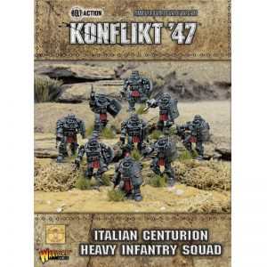 Warlord Games Konflikt '47  Italy (K47) Italian Centurion Heavy Infantry Squad - 452211602 - 5060572500662