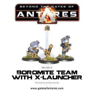 Warlord Games Beyond the Gates of Antares  Boromite Guilds Boromite X-Launcher & Team - WGA-BOR-27 - 5060393700197