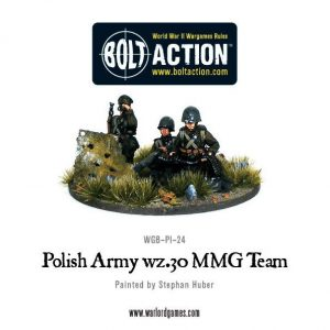 Warlord Games Bolt Action  Poland (BA) Polish Army wz.30 MMG team - WGB-PI-24 - 5060200849606