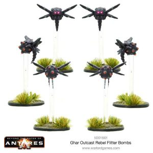 Warlord Games Beyond the Gates of Antares  Ghar Rebels Ghar Outcast Rebel Flitter Bombs - WGA-GAR-503015001 - 5060393705512
