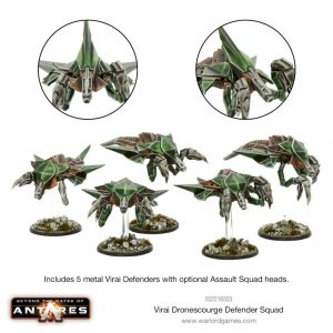 Warlord Games Beyond the Gates of Antares  Virai Dronescourge Virai Dronescourge Defender Squad - 502216503 - 5060393709664