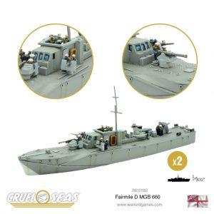 Warlord Games Cruel Seas  Cruel Seas Cruel Seas: British Fairmile D MGB 660 - 785101002 - 5060572504141