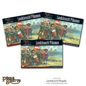 Warlord Games Pike & Shotte  Italian Wars 1494-1559 Landsknechts Brigade - 209916001 -