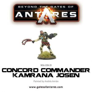 Warlord Games Beyond the Gates of Antares  PanHuman Concord Commander Kamrana Josen - WGA-CON-29 - 5060393703020