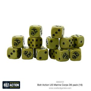 Warlord Games Bolt Action  Bolt Action Books & Accessories US Marine Corps D6 Dice (16) - 408403101 - 5060393708643