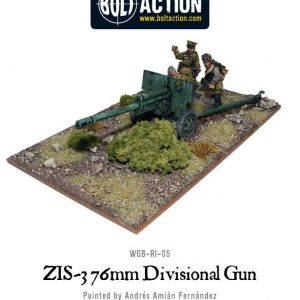 Warlord Games Bolt Action  Soviet Union (BA) Soviet ZIS-3 76mm Divisional Gun - WGB-RI-23 - 5060200842621