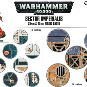 Games Workshop   Games Workshop Bases Sector Imperialis Base Pack (25mm, 40mm) - 99120199040 - 5011921073160