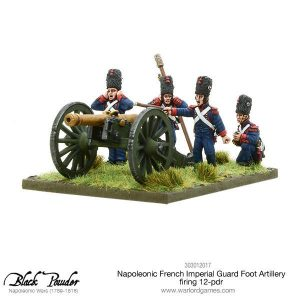 Warlord Games Black Powder  French (Napoleonic) Napoleonic French Imperial Guard Foot Artillery 12-pdr (firing) - 303012017 - 5060393707721