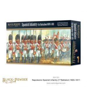 Warlord Games Black Powder  Spanish (Napoleonic) Napoleonic Spanish Infantry (1st Battalion) 1805-1811 - 302411501 - 5060572508002