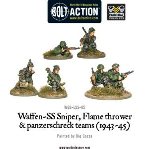 Warlord Games Bolt Action  Germany (BA) Waffen-SS Special Weapons Teams - WGB-LSS-05 - 5060200846537