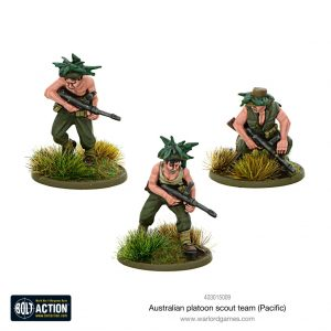 Warlord Games Bolt Action  Australia (BA) Australian platoon scout team (Pacific) - 403015009 - 5060572501218