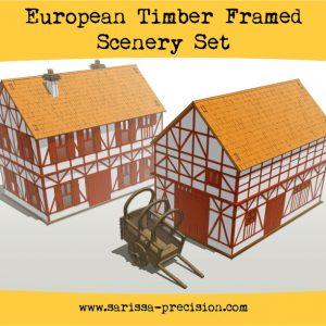 Warlord Games   Sarissa Precision European Timber Frame Scenery Set - N149 - 5060572504264