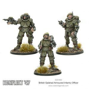 Warlord Games Konflikt '47  British (K47) British Galahad Armoured Infantry Officers - 453010602 - 5060572500426