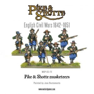 Warlord Games Pike & Shotte  The English Civil Wars 1642-1652 Pike & Shotte Musketeers - WGP-EC-72 - 5060393701286