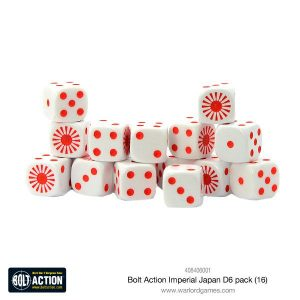 Warlord Games Bolt Action  Bolt Action Books & Accessories Imperial Japanese D6 Dice (16) - 408406001 - 5060393708636