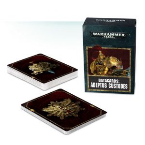 Games Workshop Warhammer 40,000  Adeptus Custodes Datacards: Adeptus Custodes - 60220108002 - 5011921096657