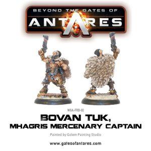 Warlord Games Beyond the Gates of Antares  Freeborn Bovan Tuk, Mhagris Mercenary Leader - WGA-FRB-02 -