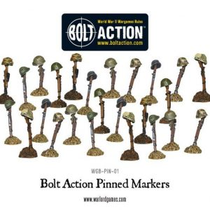 Warlord Games Bolt Action  Bolt Action Extras Pinned Markers (25) - WGB-PIN-01 - 5060200844588