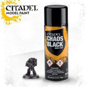 Games Workshop   Spray Paint GW Spray: Chaos Black - 99209999065 - 5011921154470
