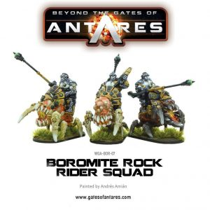 Warlord Games Beyond the Gates of Antares  Boromite Guilds Boromite Rock Rider squad - WGA-BOR-07 - 5060393703761