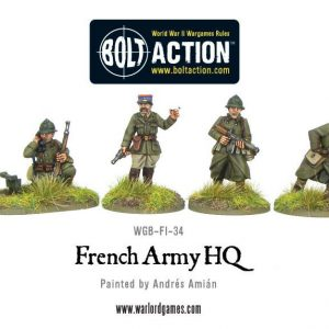 Warlord Games Bolt Action  France (BA) French Army HQ - WGB-FI-34 - 5060393701477