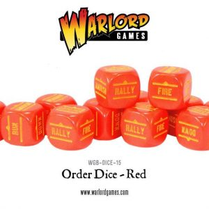 Warlord Games Bolt Action  Bolt Action Extras Bolt Action Orders Dice - Red (12) - WGB-DICE-15 - 5060200846995