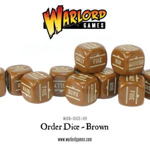 Warlord Games Bolt Action  Bolt Action Extras Bolt Action Orders Dice - Brown (12) - WGB-DICE-09 - 5060200846933