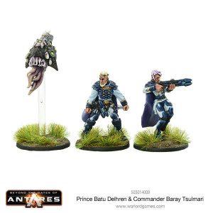 Warlord Games Beyond the Gates of Antares  Freeborn Prince Batu Delhren & Commander Baray Tsulmari - 503014009 - 5060393706601