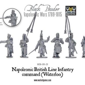 Warlord Games Black Powder  British (Napoleonic) British Line Infantry command (Waterloo) - WGN-BR-29 - 5060200849187
