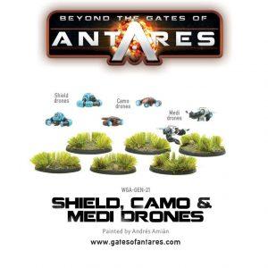Warlord Games Beyond the Gates of Antares  Antares Essentials Shield, Camo & Medi-Drones - WGA-GEN-21 - 5060393703716