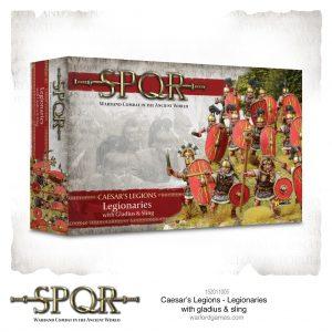Warlord Games SPQR  SPQR SPQR: Caesar's Legions Legionaries with Gladius & Slings - 152011005 - 5060572504837