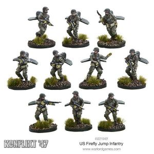 Warlord Games Konflikt '47  USA (K47) US Firefly Jump Infantry - 452210401 - 5060393705017
