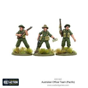 Warlord Games Bolt Action  Australia (BA) Australian Officer Team (Pacific) - 403015001 - 5060393707462