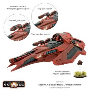 Warlord Games Beyond the Gates of Antares  Algoryn Algoryn Bastion Heavy Combat Skimmer - 502411010 - 5060393709923