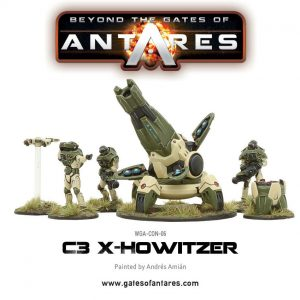Warlord Games Beyond the Gates of Antares  PanHuman Concord Concord X-Howitzer - WGA-CON-06 - 5060393702993