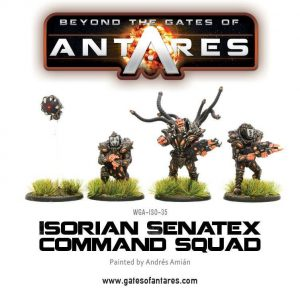 Warlord Games Beyond the Gates of Antares  Isorian Senatex Isorian Senatex Command Squad - WGA-ISO-35 - 5060393703563