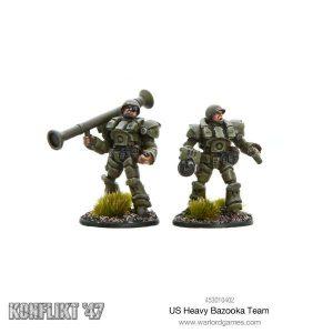 Warlord Games Konflikt '47  USA (K47) US Heavy Bazooka Team - 453010402 - 5060393705741